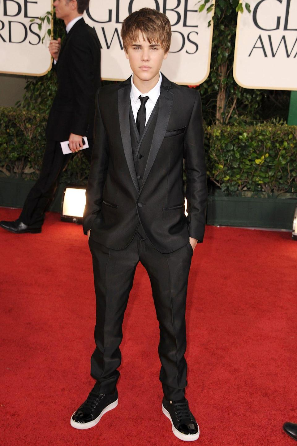 <p>You didn't expect to see Justin Bieber making an appearance at the Globes a decade ago? Well, that's why you ... <em>Never Say Never. </em></p>
