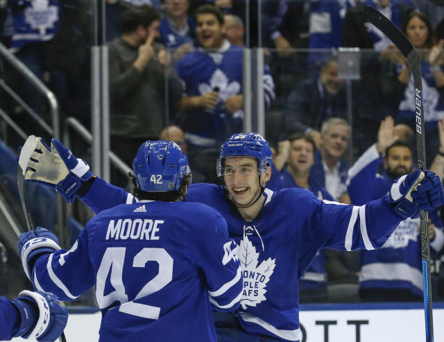 No one imagined Mikheyev finishing the night tied for the most points on the Leafs. (Rick Madonik/Toronto Star via Getty Images)