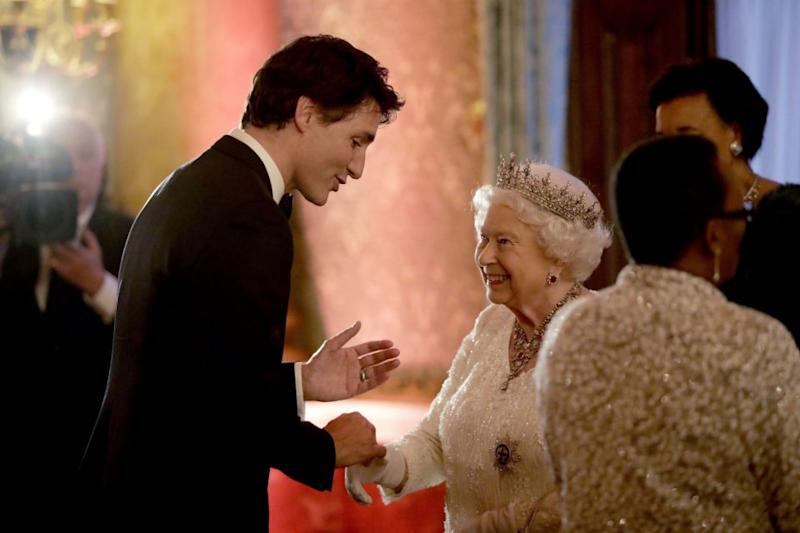 The Queen also looked totally taken by Justin Trudeau. Photo: Getty Images