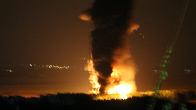Freight train which caught fire had 25 wagons holding diesel or gas oil