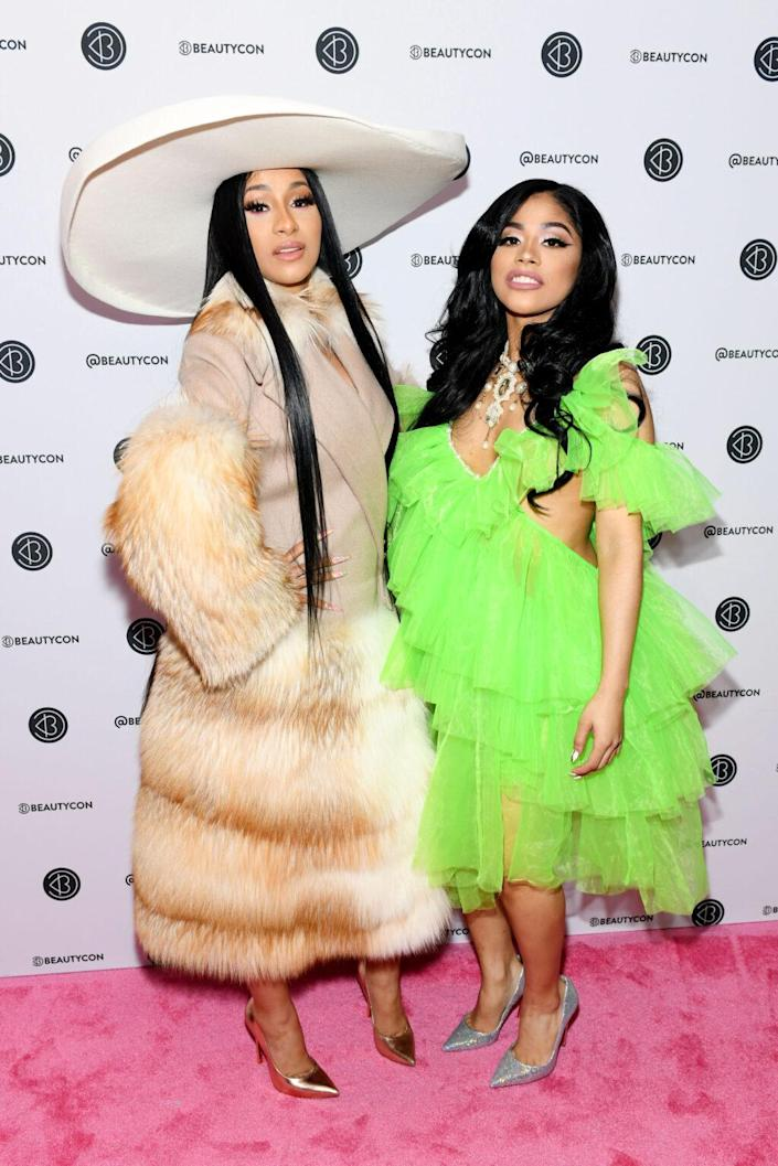 Cardi B and Hennessy Carolina attend Beautycon Festival New York 2019 at Jacob Javits Center on April 07, 2019 in New York City. (Photo by Noam Galai/Getty Images for Beautycon)