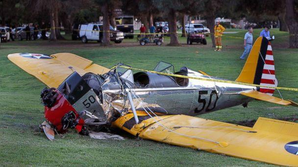 PHOTO: A general view at the Penmar Golf Course after a single-engine plane piloted by actor Harrison Ford crashed on March 5, 2015 in Venice, California. (David Buchan/Getty Images)