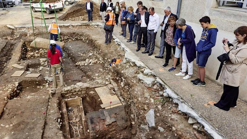 7th century Merovingian skeleton unearthed in Cahors