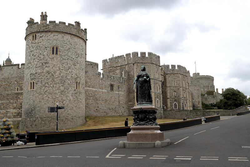 WINDSOR, ENGLAND - JUNE 10: A general view of Windsor Castle on June 10, 2020 in Windsor, England. Prince Philip, The Duke of Edinburgh turns 99 years old today. (Photo by Chris Jackson/Getty Images)