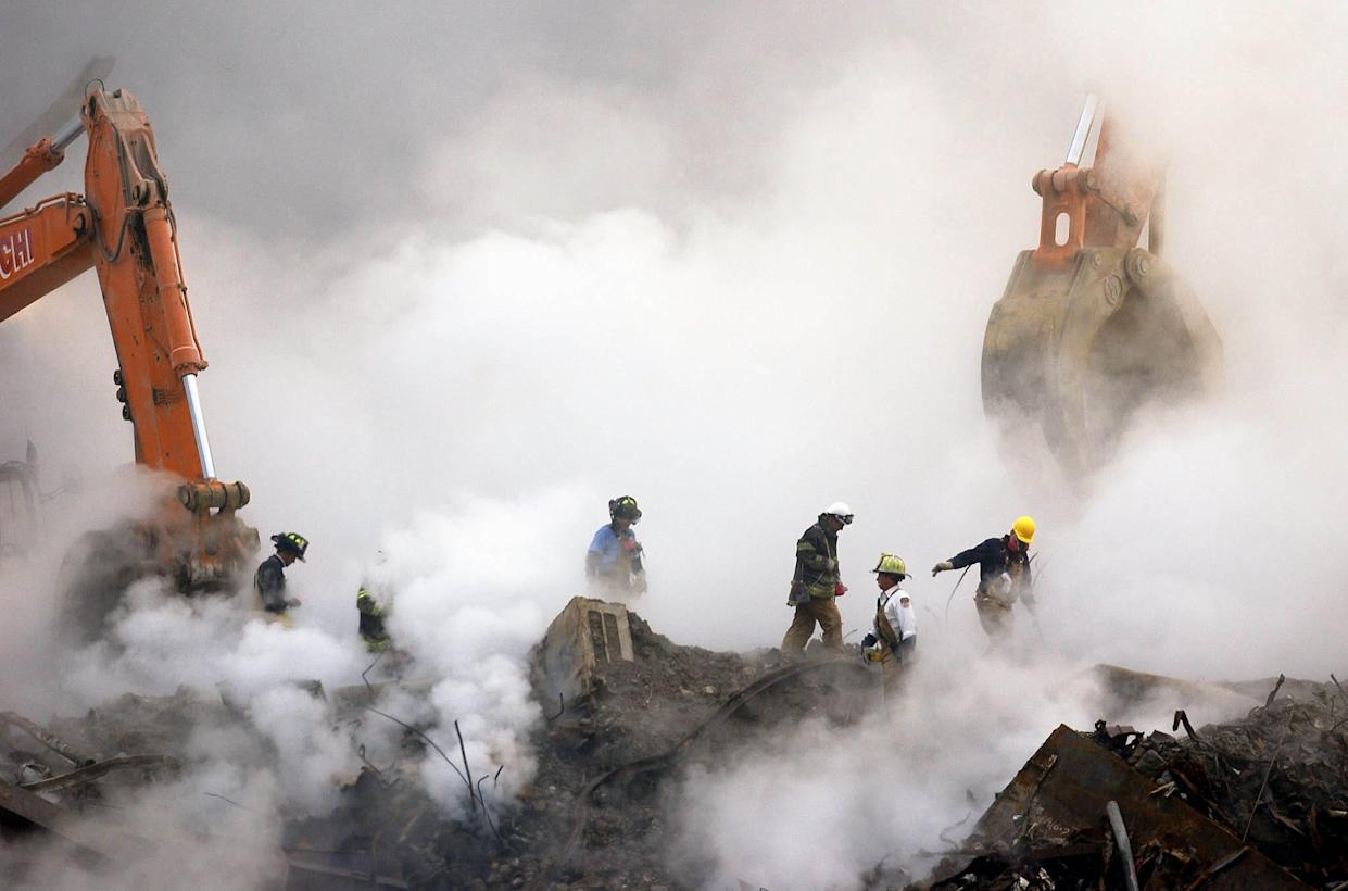 Firefighters suffered respiratory ailments after working amid the clouds of dust and smoke at Ground Zero in 2001.