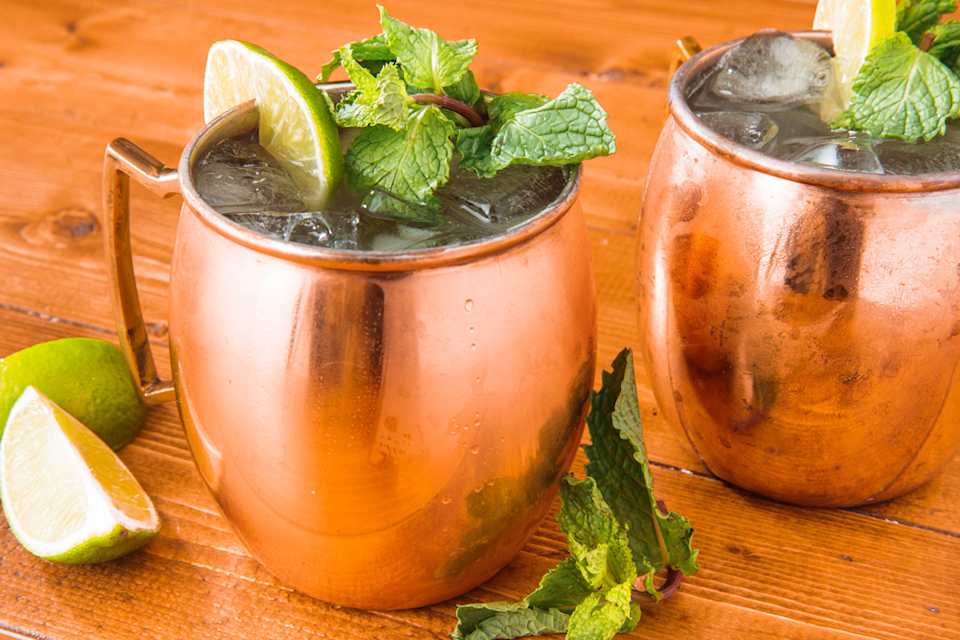 <p>Homemade low-carb ginger syrup, lime juice, mint leaves, diet ginger ale, and vodka make a supreme low-carb alternative for Sunday Funday.</p>
