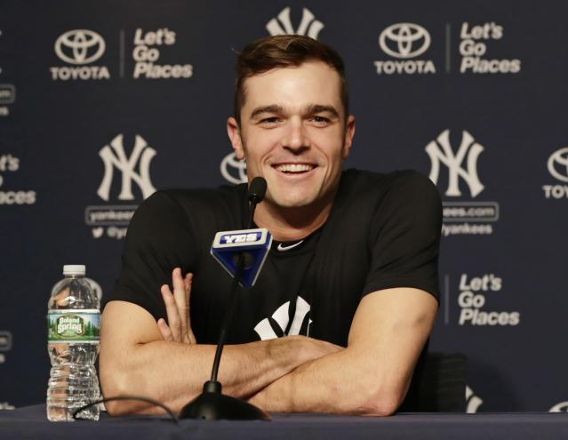 Yankees reliever David Robertson has admitted to eating dog food. (AP Photo/Frank Franklin II)