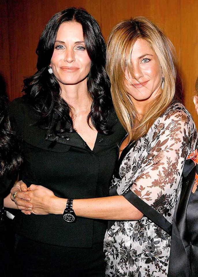 "BFFs Courteney Cox Arquette and Jennifer Aniston attended Glamour magazine's Reel Moments event at the Directors Guild of America in Los Angeles, where Courteney unveiled her directorial debut, ""The Monday Before Thanksgiving."" Jeff Vespa/<a href=""http://www.wireimage.com"" target=""new"">WireImage.com</a> - October 14, 2008"