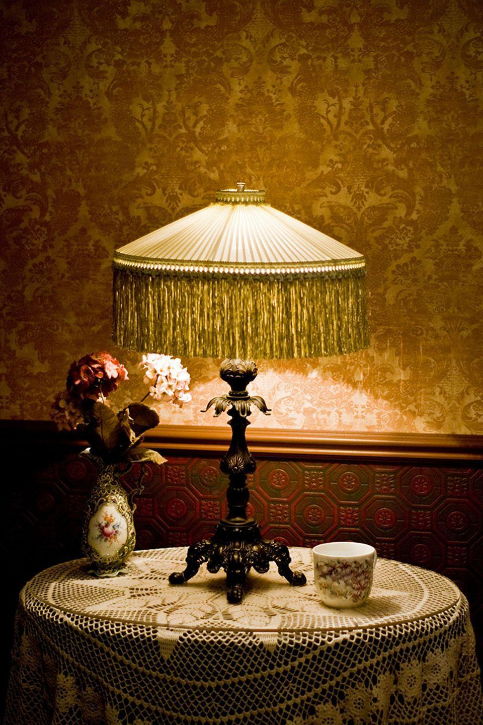 <p>The lamp you inherited that just didn't fit in with the rest of the room can possibly score you a wad of dough. Handel, Pairpoint, and Fulper are just a few of the brands that collectors are looking for. Pro tip: Sometimes even just having the base is enough.</p><p><strong>What it's worth: </strong>Up to $45,000<br></p>