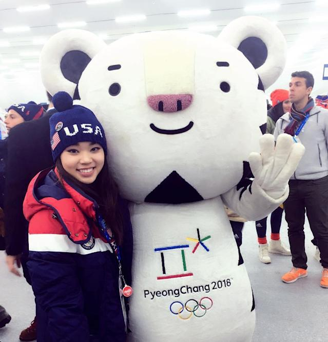 <p>karebearsk8: Opening Ceremonies!#PyeongChang2018 #TeamUSA (Photo via Instagram/karebearsk8) </p>