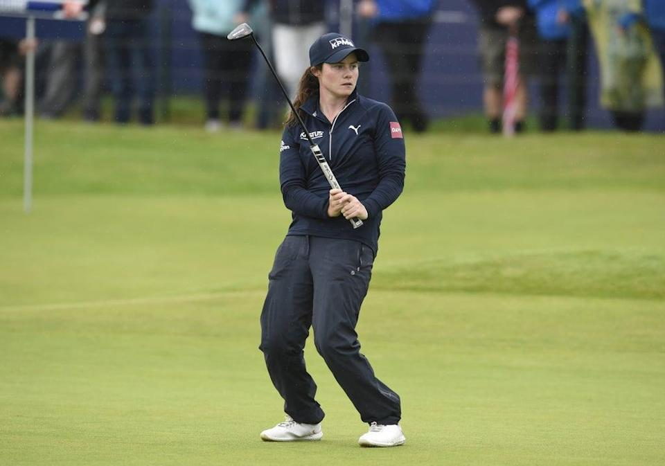 Ireland's Leona Maguire reacts to a putt on the 18th green, during day three of the AIG Women's Open at Carnoustie (Ian Rutherford/PA) (PA Wire)