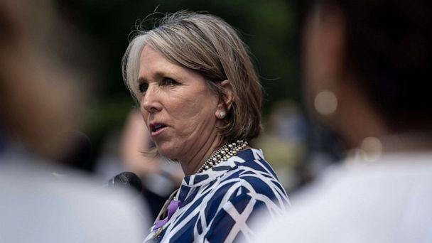 PHOTO: Rep. Michelle Lujan Grisham speaks during a news conference on immigration to condemn the Trump Administration's 'zero tolerance' immigration policy, outside the US Capitol in Washington, June 13, 2018. (Toya Sarno Jordan/Getty Images)