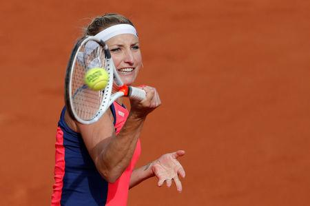 Tennis - French Open - Roland Garros, Paris, France - June 4, 2017 Switzerland's Timea Bacsinszky in action during her fourth round match against USA's Venus Williams Reuters / Gonzalo Fuentes