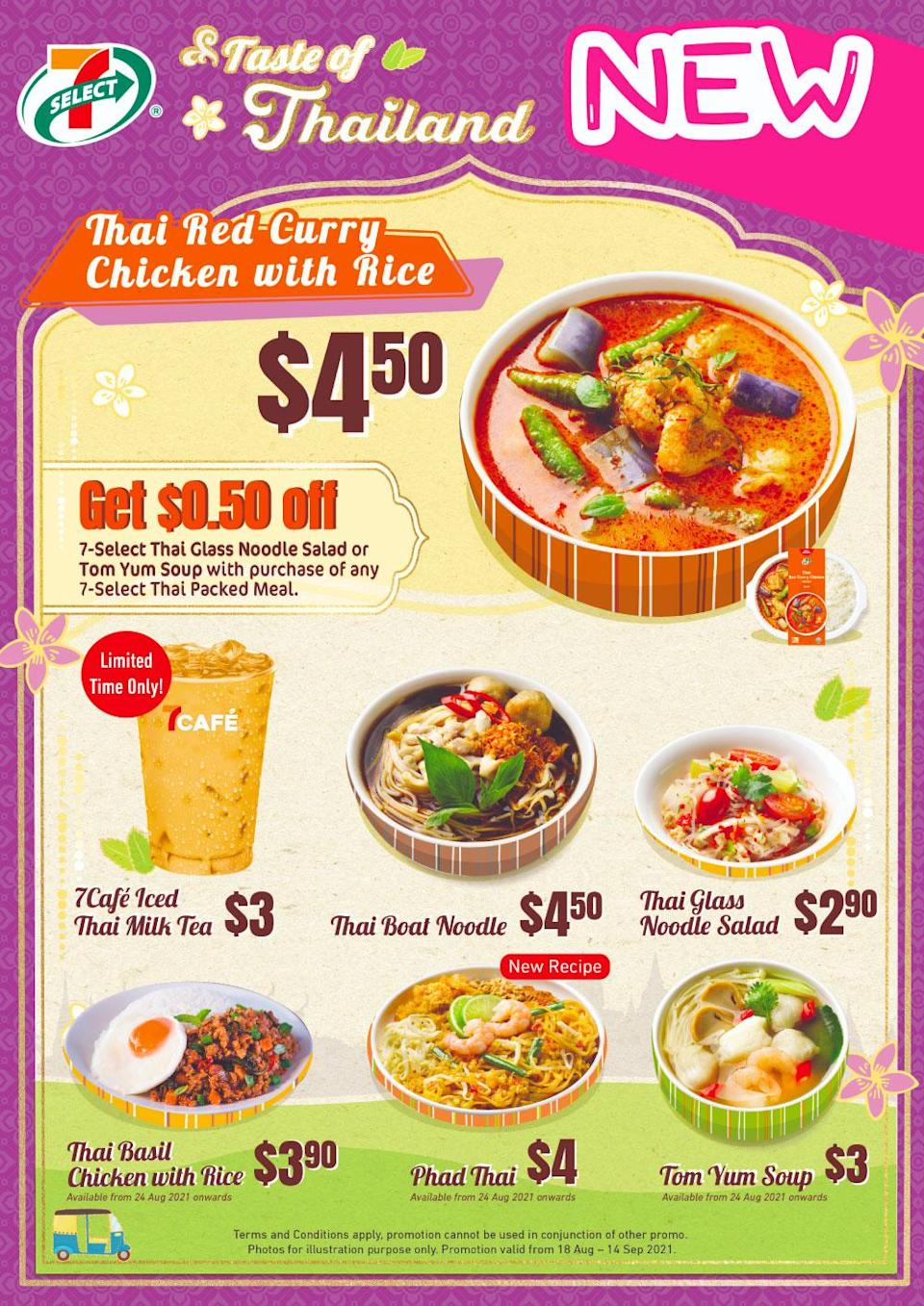 an infographic on 7-eleven's thai food