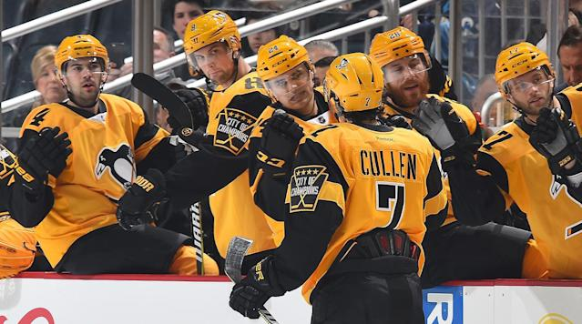 PITTSBURGH (AP) Ron Hainsey arrived in Pittsburgh from Carolina a month ago on the verge of reaching the playoffs for the first time in his 14-year career.