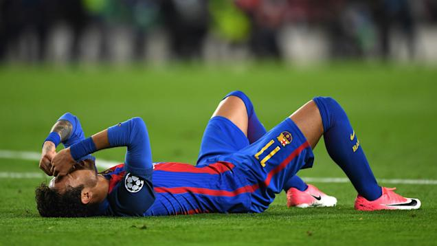 Neymar, tras el partido (Shaun Botterill/GETTY IMAGES)