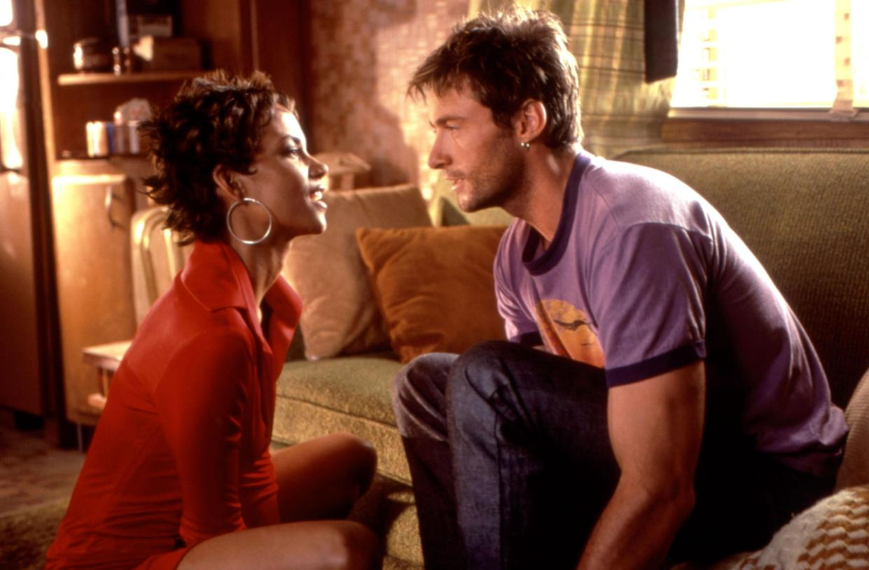 Halle Berry and Hugh Jackman in the 2001 action movie 'Swordfish,' which celebrates its 20th anniversary this week (Photo: Warner Brothers/courtesy Everett Collection)