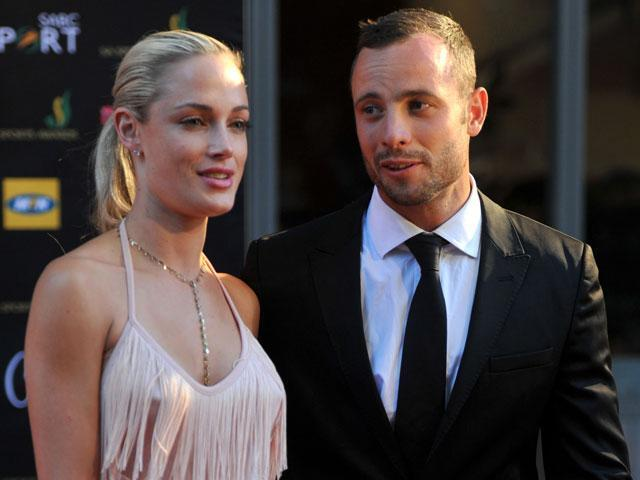 <p>Oscar Pistorius pictured with girlfriend Reeva Steenkamp in November 2012.</p>