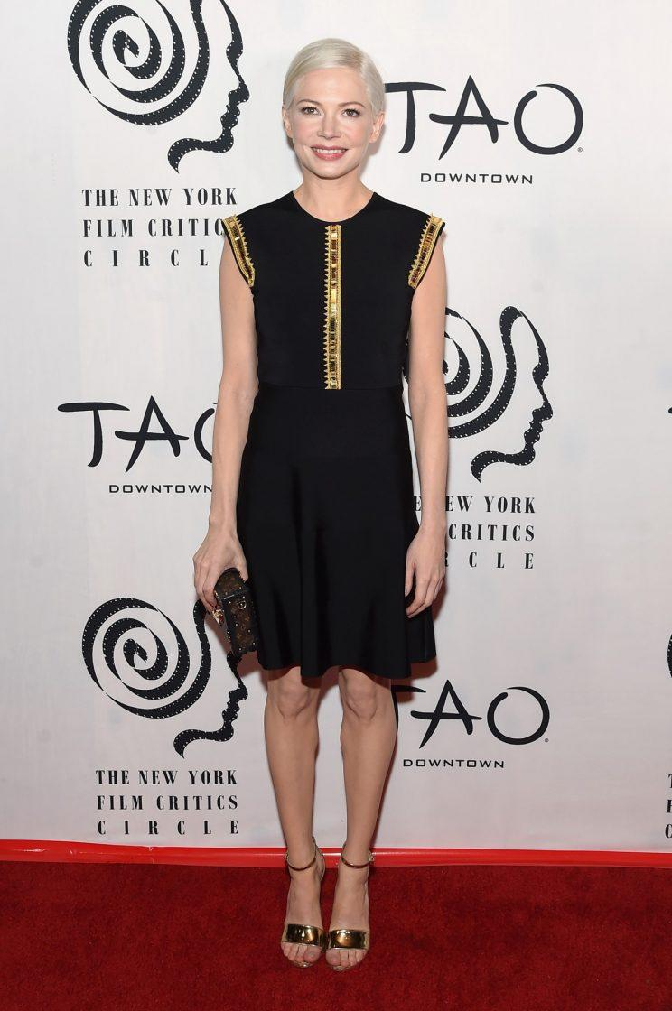 Michelle Williams in Louis Vuitton. (Photo: Getty Images)