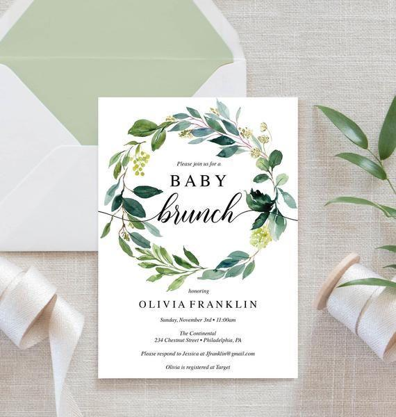 "<p><strong>CreativeUnionDesign</strong></p><p>etsy.com</p><p><strong>$6.99</strong></p><p><a rel=""nofollow"" href=""https://www.etsy.com/listing/648123673/baby-shower-invitation-baby-brunch"">SHOP NOW</a></p><p>Host a baby <a rel=""nofollow"" href=""https://www.womansday.com/food-recipes/g2237/brunch-recipes/"">brunch for ladies</a> who lunch. </p>"
