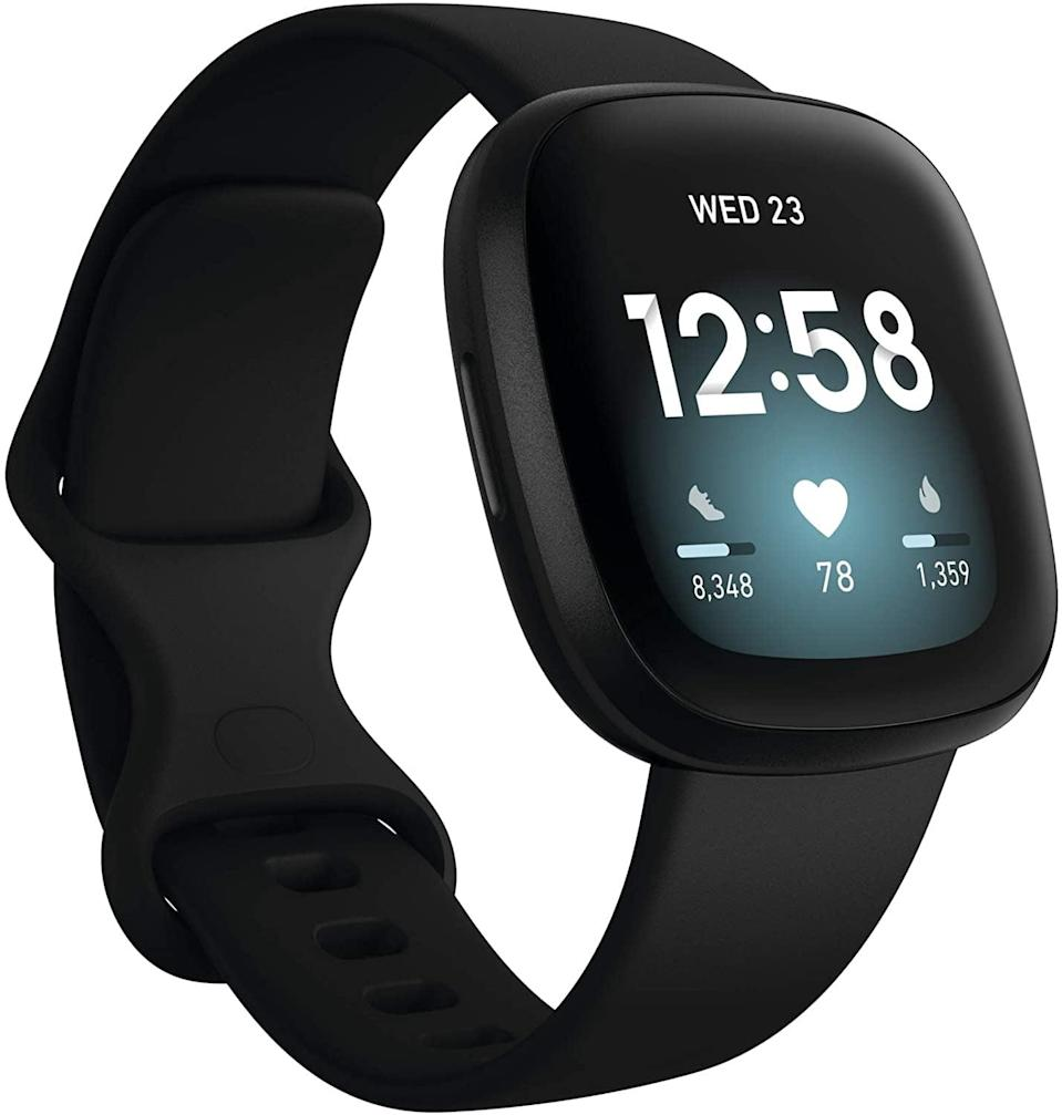 <p>The <span>Fitbit Versa 3 Smart Watch</span> ($230) is ideal for those who want to exercise without having to carry their phone around. It has built-in GPS, tracks your daily activity and sleep, and even allows you to store and play music from the tracker.</p>