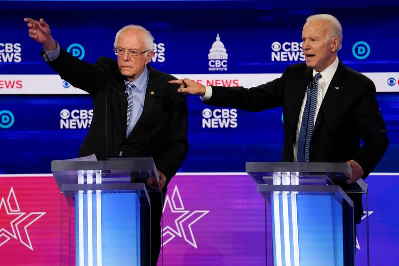 Ho-hum turnout from Sanders' coalition as Biden takes key states - exit poll