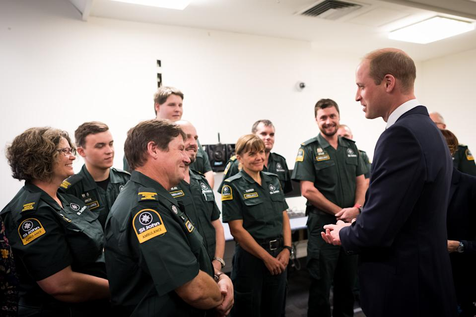 CHRISTCHURCH, NEW ZEALAND - APRIL 26: In this handout photo provided by the New Zealand Government, Prince William, Duke of Cambridge visits Christchurch Hospital on April 26, 2019 in Christchurch, New Zealand. (Photo by Mark Tantrum/The New Zealand Government via Getty Images)