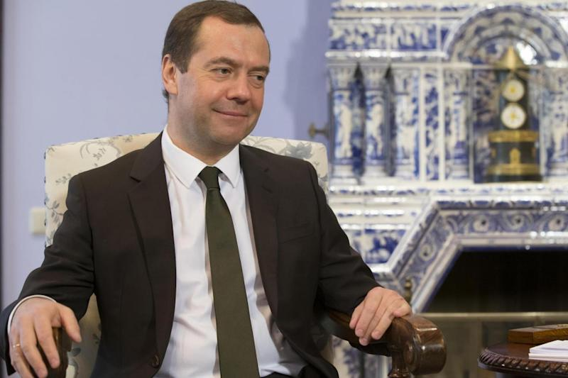Criticism: Russian Prime Minister Dmitry Medvedev (AP)
