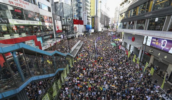 Hundreds of thousands of people have taken part in a series of marches in Hong Kong against the controversial extradition bill, blocking roads and disrupting business in the process. Photo: Dickson Lee