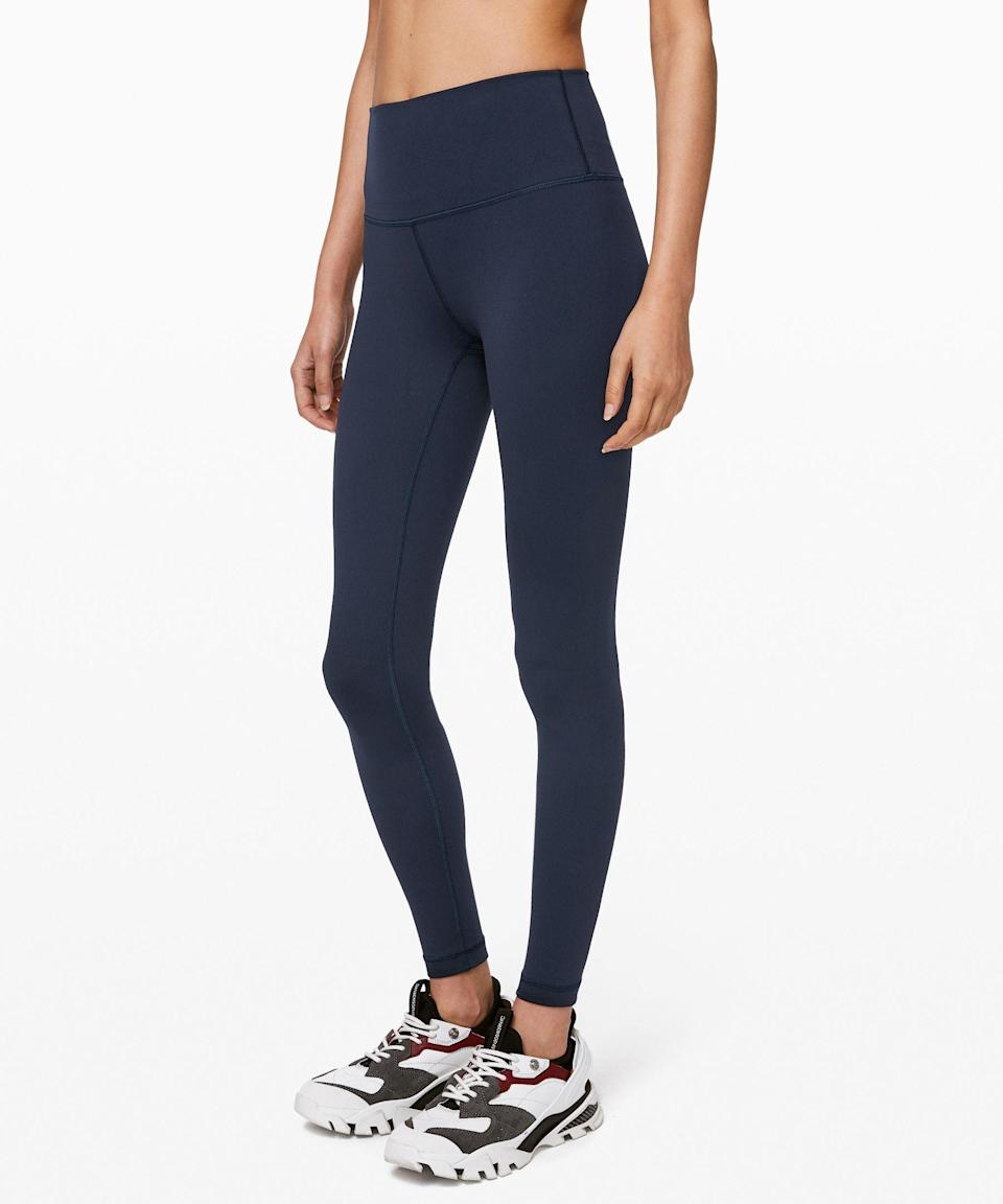 """<p><strong>Lululemon</strong></p><p>lululemon.com</p><p><strong>$98.00</strong></p><p><a href=""""https://go.redirectingat.com?id=74968X1596630&url=https%3A%2F%2Fshop.lululemon.com%2Fp%2Fwomen-pants%2FWunder-Under-HR-78-Tight%2F_%2Fprod8430902&sref=https%3A%2F%2Fwww.goodhousekeeping.com%2Fclothing%2Fg32884290%2Fbest-leggings%2F"""" rel=""""nofollow noopener"""" target=""""_blank"""" data-ylk=""""slk:Shop Now"""" class=""""link rapid-noclick-resp"""">Shop Now</a></p><p>Lululemon makes our list again, this time for its tried and true Wunder Under Tights using the Full-On Luon fabric. These fan favorites are <a href=""""https://www.goodhousekeeping.com/clothing/g27258388/best-yoga-pants/"""" rel=""""nofollow noopener"""" target=""""_blank"""" data-ylk=""""slk:designed specifically for yoga"""" class=""""link rapid-noclick-resp"""">designed specifically for yoga</a> and<strong> testers in our evaluation said they felt like second skin and stayed put throughout their workouts.</strong> They're also flattering, breathable, and durable so you know they'll last. On top of that, they come in <a href=""""https://go.redirectingat.com?id=74968X1596630&url=https%3A%2F%2Fshop.lululemon.com%2Fsearch%3FNtt%3Dwunder%2Bunder&sref=https%3A%2F%2Fwww.goodhousekeeping.com%2Fclothing%2Fg32884290%2Fbest-leggings%2F"""" rel=""""nofollow noopener"""" target=""""_blank"""" data-ylk=""""slk:lots of variations"""" class=""""link rapid-noclick-resp"""">lots of variations</a> for different colors, rises, and lengths.</p>"""