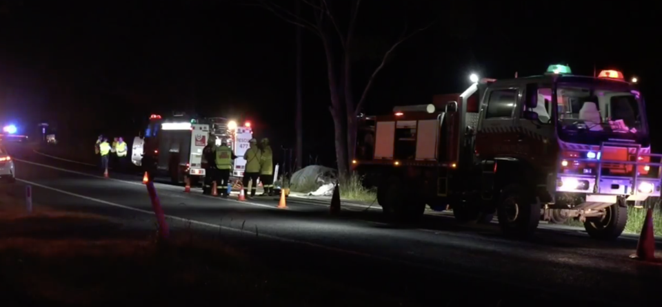 A young child was among three people killed in the crash. Source: Nine News