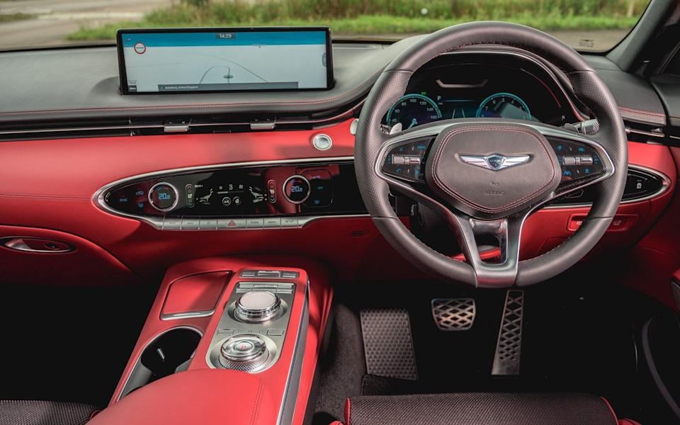 Most of the major functions are controlled by a small touchscreen on the dashboard that's a bit fiddly to use but looks sleek - Genesis