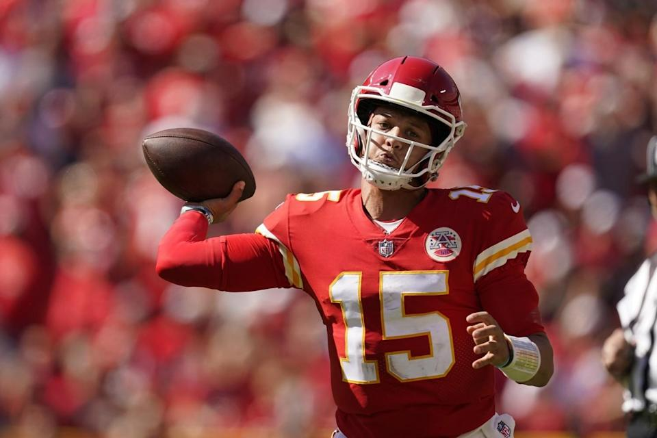 Kansas City Chiefs quarterback Patrick Mahomes throws during a loss to the Chargers on Sunday.