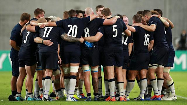 Typhoon Hagibis continues to cast doubt over Scotland's crucial Rugby World Cup game against Japan.
