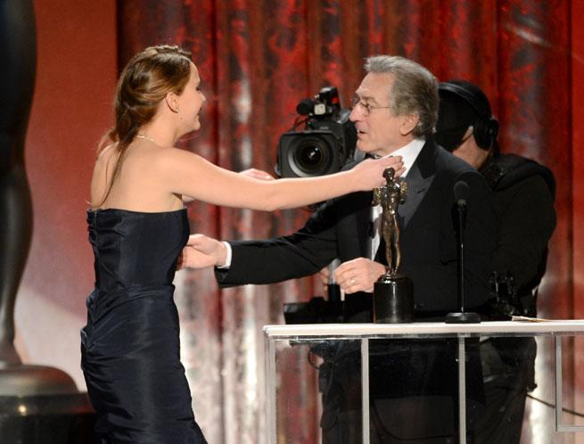 Oops! Did Jennifer Lawrence Rip Her Dior Couture Dress At The SAG Awards?