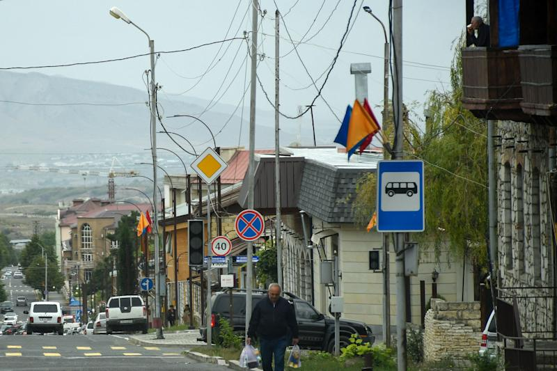 A view of Nagorny Karabakh's main city of StepanakertAFP via Getty