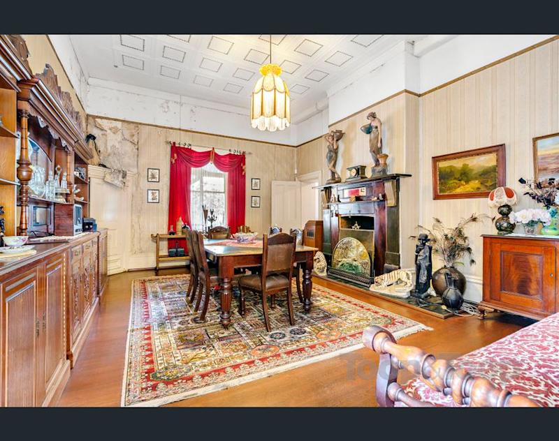 Dining room of the Macgill house for sale. (Image: realestate.com.au/Toop & Toop)