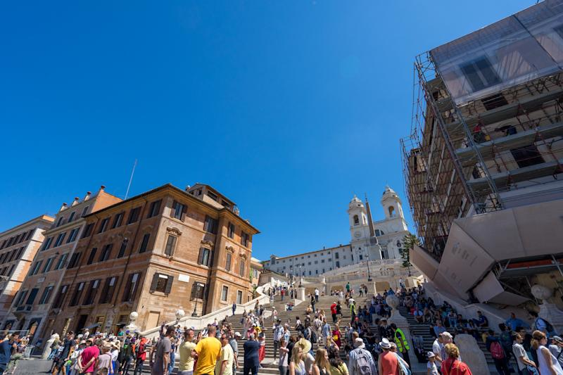 Rome Spanish Steps crowded with summer holiday tourists. Getty Images