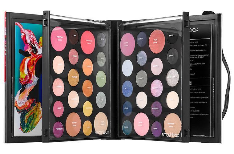 """<p>With packaging inspired by artist Yago Hortal, this set of 40 best selling eye and cheek colors is perfect for packing on your holiday trips. <a href=""""http://www.sephora.com/art-love-color-master-class-P400150"""">Smashbox Art.Love.Color Master Class</a> ($65) <br /></p>"""