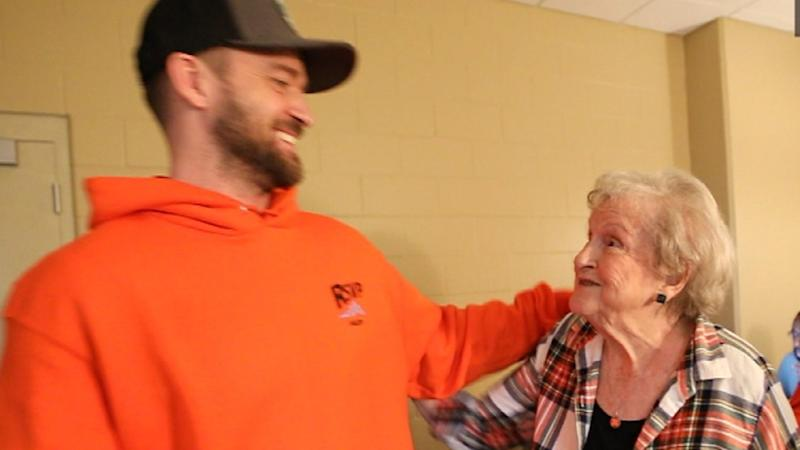 The 88-year-old fan was surprised with Timberlake tickets on Easter, but never imagined she'd get to meet the singer and get a shout-out during the concert.