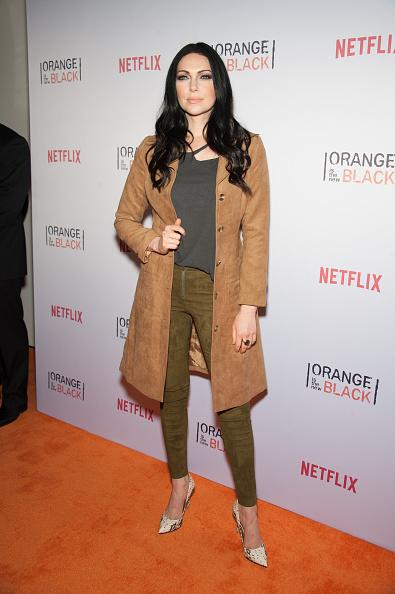 Despite the rising New York City temperature, Prepon stepped out in suede—all suede. The outfit, from its material to the camel/olive/grey color scheme, might be better suited to a late October night.