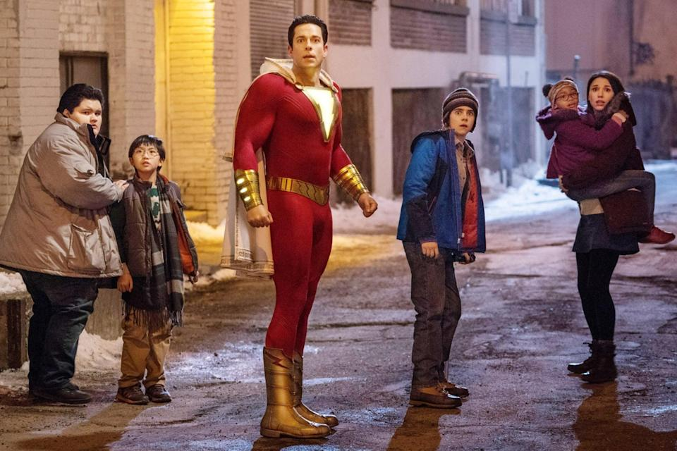 <ul> <li><strong>What to wear for Shazam!:</strong> A red leotard or jumpsuit with gold details and an eye-catching cape will make you bulletproof in no time. It might be easier to buy the costume online, but if you are feeling crafty, start sewing now! </li> </ul> <ul> <li><strong>What to wear for Freddy:</strong> A low-key look is the goal for a Freddy costume. You'll need a beanie, a layered blue windbreaker, and your trusty camcorder, of course. </li> </ul>