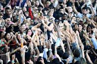 The pandemic's negative impact on touring has shone a spotlight on streaming income, which top superstars like Drake, shown here in 2013, or Taylor Swift benefit from but which sidelines music's middle class