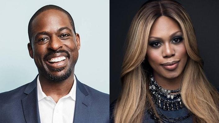 Sterling K.. Brown and Laverne Cox Photo: theGrio collage