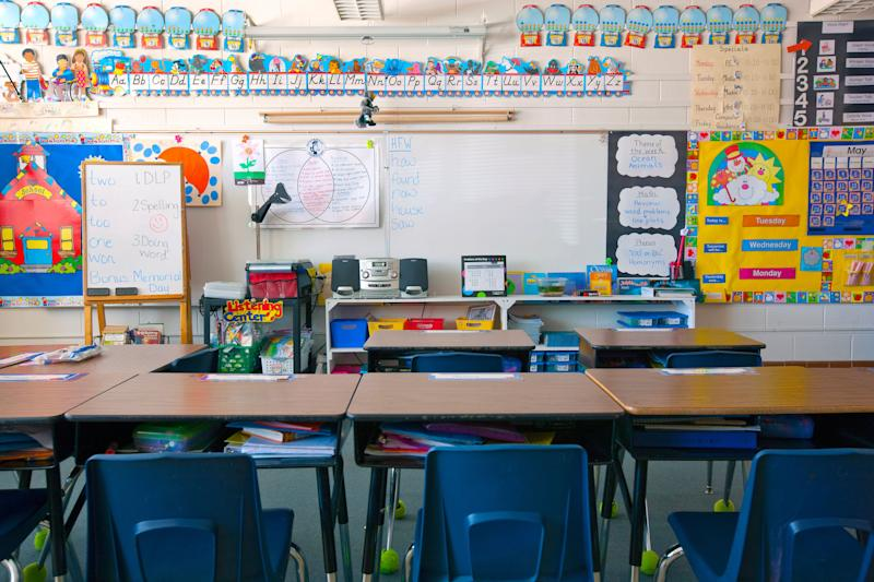"""""""You should ask your children's school about their plans for school dismissals or school closures. Ask if there are plans for teleschool,"""" says Nancy Messonnier ofthe CDC's National Center for Immunization and Respiratory Diseases. (Photo: Mint Images via Getty Images)"""
