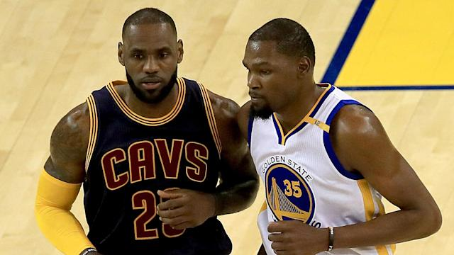 There have been reports LeBron James will talk with the Golden State Warriors but Kevin Durant does not envisage him joining the champions.