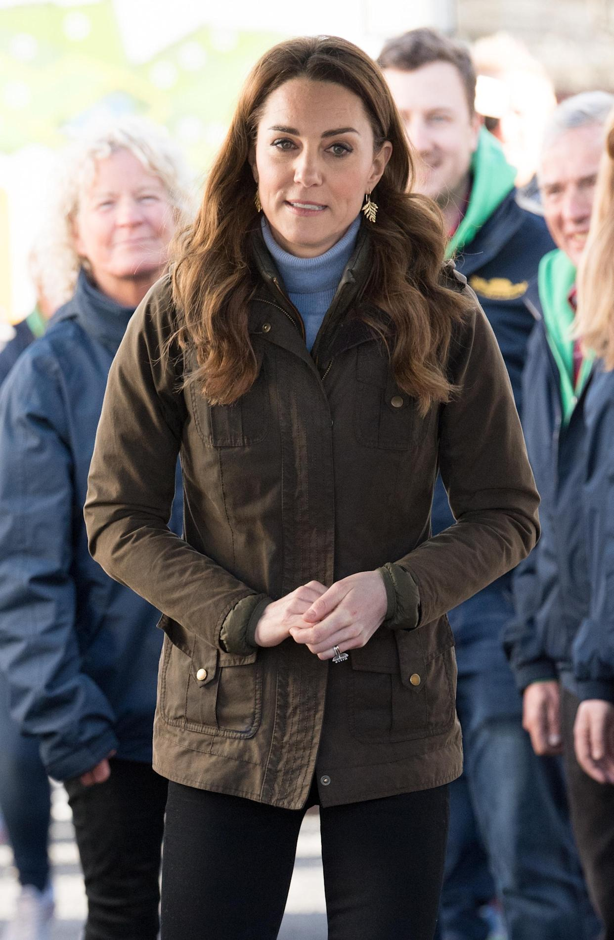 Duchess of Cambridge visits at The Ark Open Farm on February 12, 2020 in Newtownards, Northern Ireland. (Getty Images)
