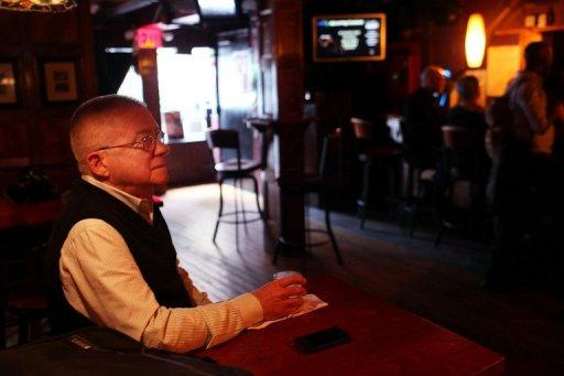 Henry Smith, who hopes to marry his partner later this year, enjoys a drink at the Stonewall Inn, a historic gay bar