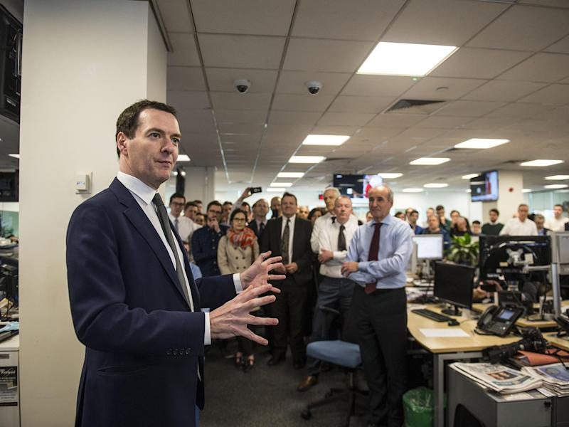 George Osborne visited the Evening Standard following his announcement to meet staff: Lucy Young