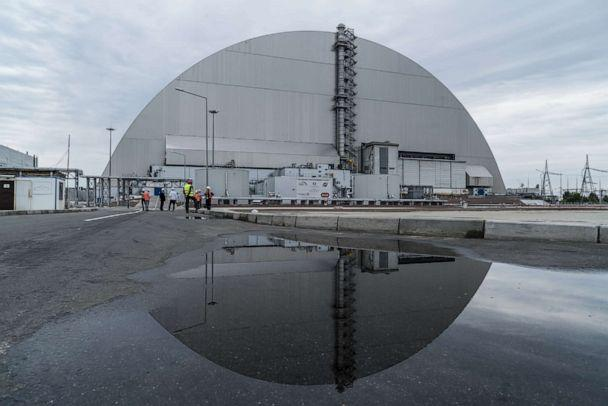 PHOTO: The 'New Safe Confinement' at the Chernobyl Nuclear Power Plant is shown on July 2, 2019, in Pripyat, Ukraine. (Brendan Hoffman/Getty Images)